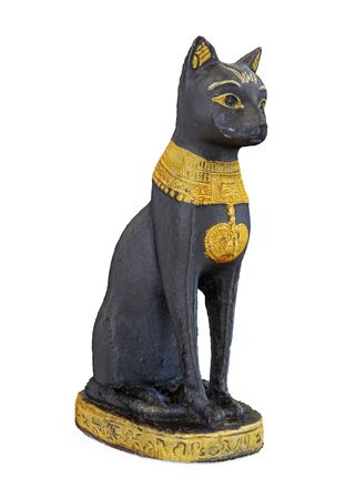 Egyptian Cat Statue Isolated