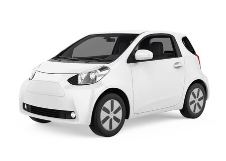 Electric Car Vehicle Isolated Stockfoto