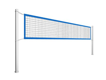 Volleyball Net Isolated Stock Photo