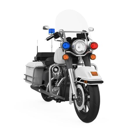 Police Patrol Motorcycle Isolated