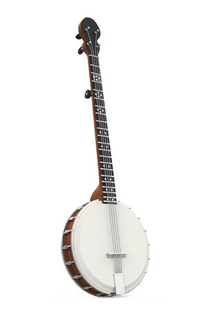Banjo Musical Instrument Isolated