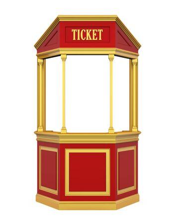 Ticketstand Karneval isoliert Standard-Bild