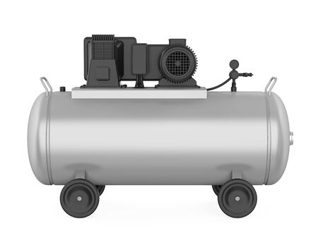 Air Compressor Isolated Stockfoto