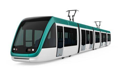 Modern Tram Isolated Stock Photo - 128685125