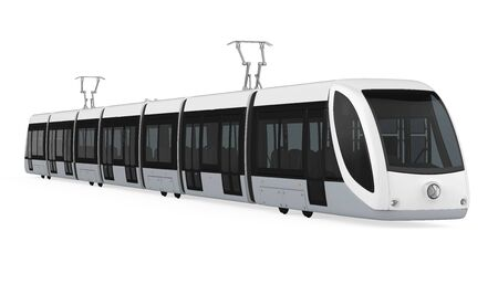 Modern Tram Isolated Stock Photo