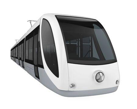 Modern Tram Isolated Stock Photo - 128685134