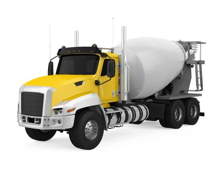 Concrete Mixer Truck Isolated 스톡 콘텐츠