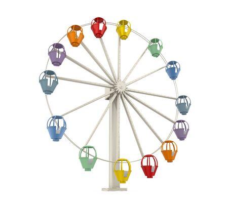 Ferris Wheel Isolated