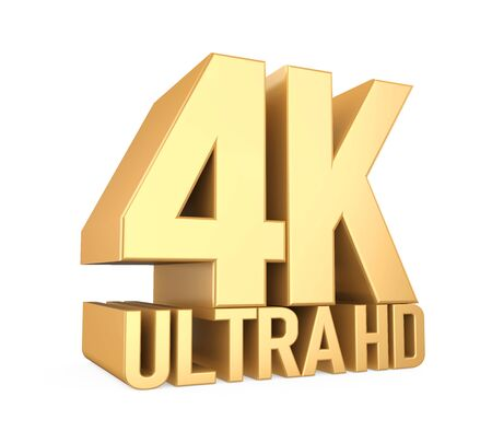 4K Ultra HD Sign Isolated