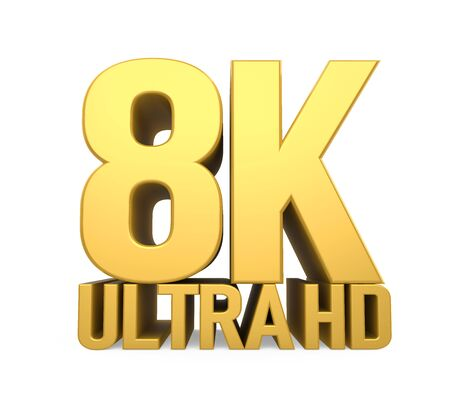 8K Ultra HD Sign Isolated Stockfoto