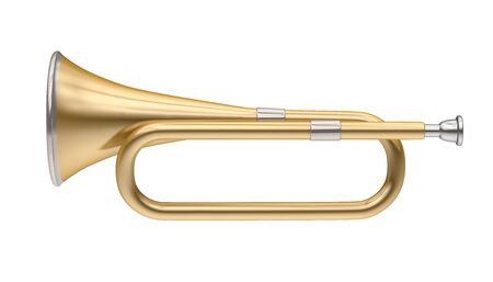 Bugle Brass Instrument Isolated 스톡 콘텐츠