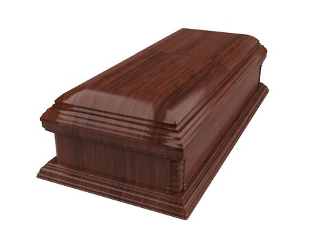 Wooden Coffin Isolated