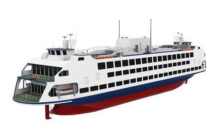 Passenger Ferry Boat Isolated Banco de Imagens