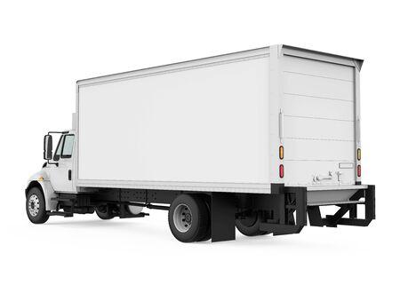 Ciężarówka chłodnia na białym tle Zdjęcie Seryjne