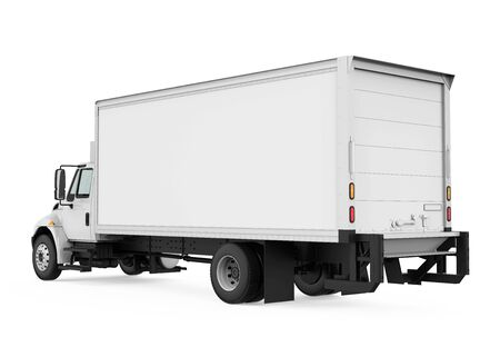 Gekoelde Geïsoleerde Vrachtwagen Stockfoto
