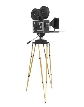 Vintage Movie Camera Isolated Фото со стока - 129611117