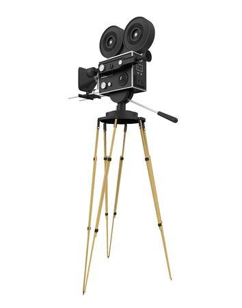 Vintage Movie Camera Isolated