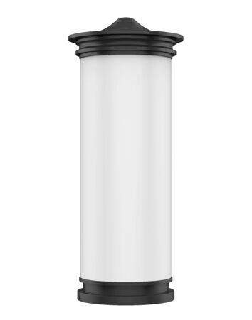 Advertising Column Isolated Stockfoto