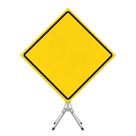 Blank Traffic Sign Isolated Stockfoto
