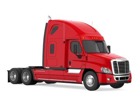 Oplegger Vrachtwagen Geïsoleerd Stockfoto