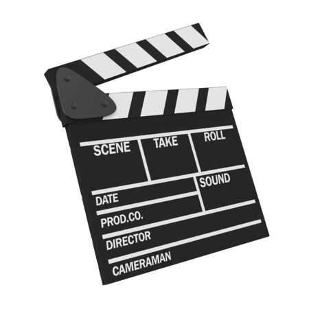Movie Slate Clapper Board Isolated