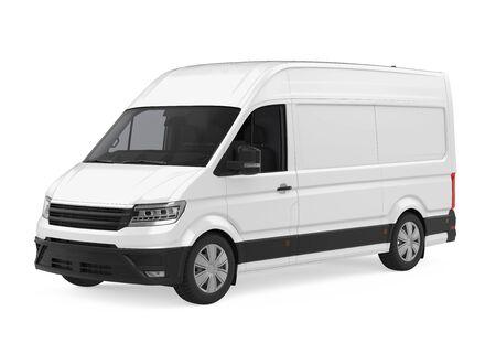 Delivery Van Isolated Stock Photo