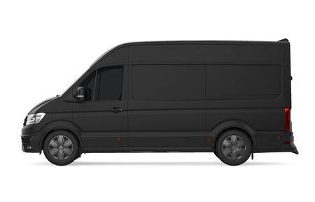 Delivery Van Isolated Stock fotó
