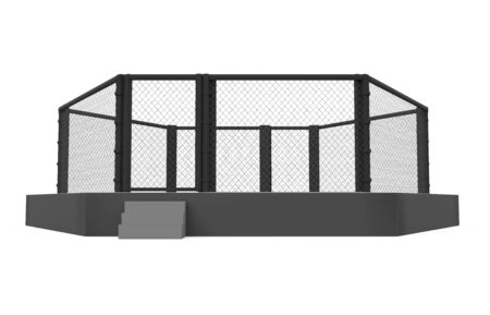 MMA Fight Cage Arena Isolated