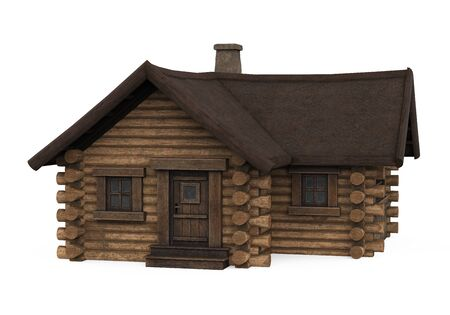 Wooden Log Cabin House Isolated Standard-Bild