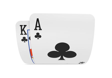 Pair of Ace and King Playing Cards Isolated