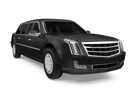 Luxury Limousine Car Isolated Фото со стока