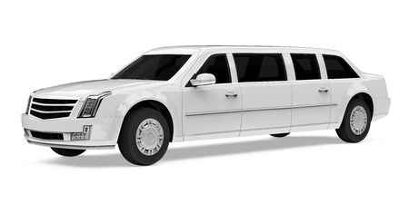 Luxury Limousine Car Isolated Reklamní fotografie