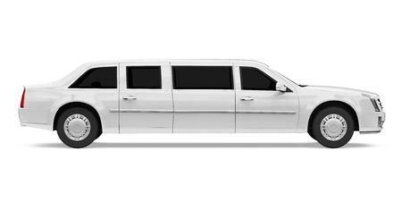 Luxury Limousine Car Isolated 写真素材