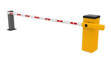 Parking Gate Barrier Isolated