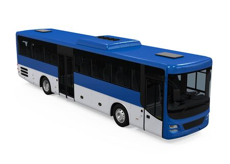 Blue City Bus Isolated