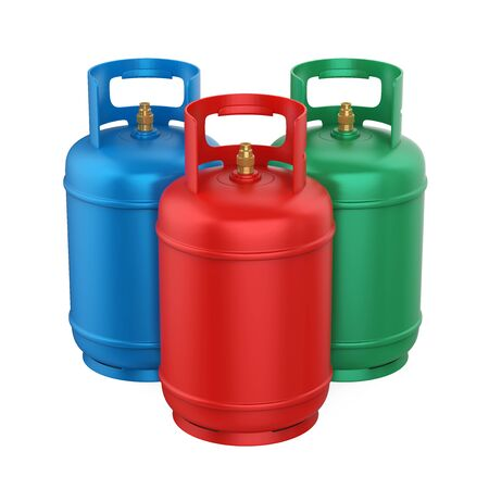 Gas Cylinders Isolated