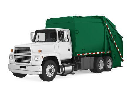 Camión de basura aislado