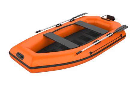 Schlauchboot isoliert