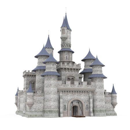 Zamek na białym tle Zdjęcie Seryjne
