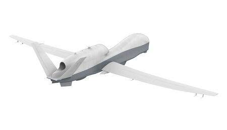 Military Drone Isolated