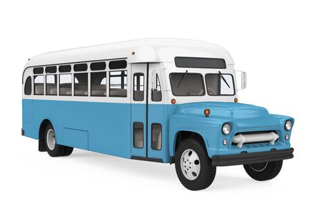 Vintage School Bus Isolated