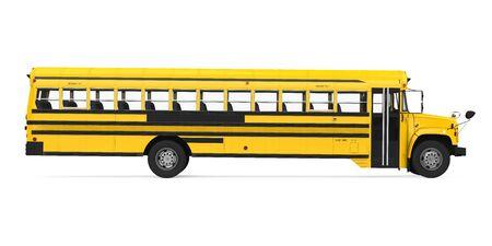 Autobus scolaire isolé