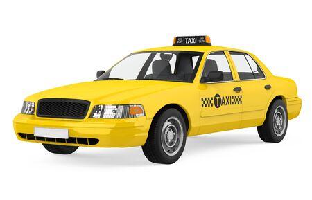 Gelbes Taxi isoliert
