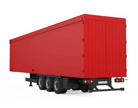 Semi-Trailer Box Isolated