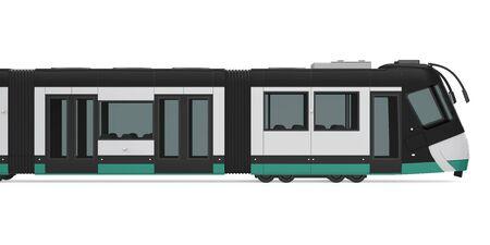 Modern Tram Isolated Imagens - 131972587