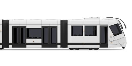 Modern Tram Isolated