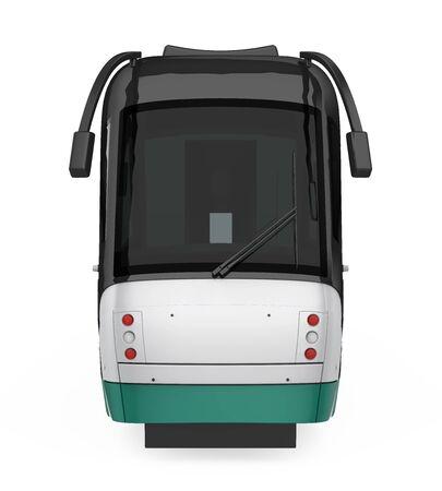 Modern Tram Isolated Imagens - 131972556