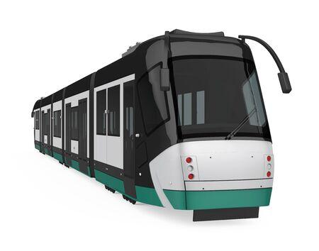 Modern Tram Isolated 스톡 콘텐츠