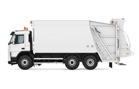 Garbage Truck Isolated Stockfoto