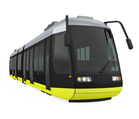 Modern Tram Isolated Imagens